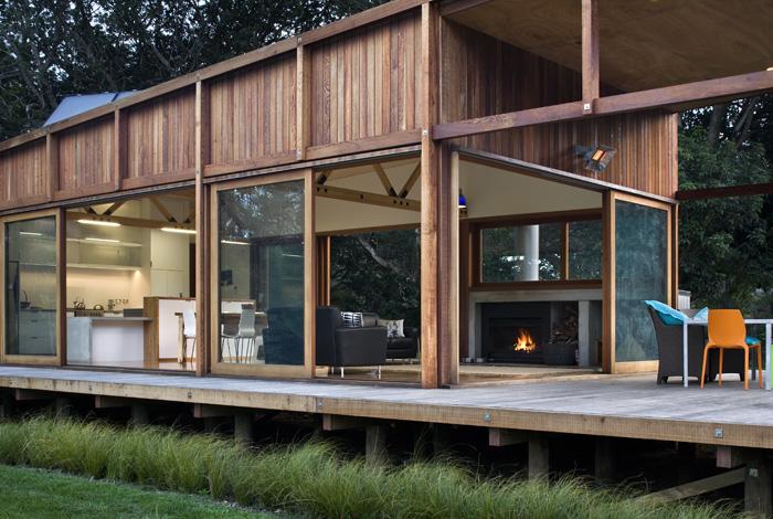 Great Barrier House Island Casa Sostenible En Nueva