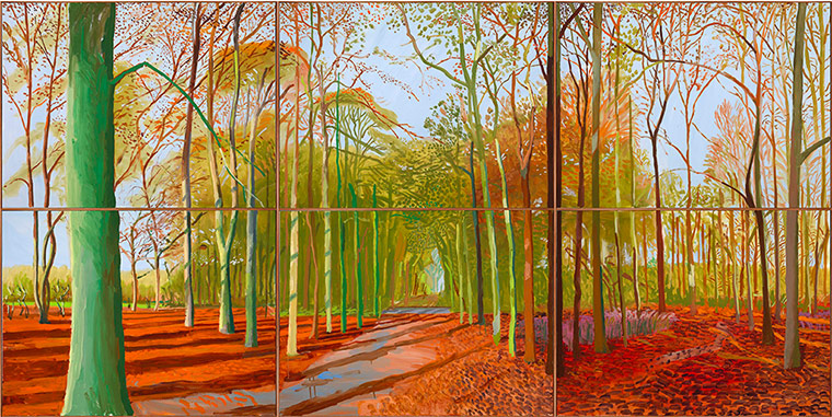 David Hockney:  The Bigger / Paisajes de gran formato