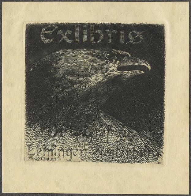 el-conde-kart-emich-de-leiningen-westerburg-ex-libris-por-a-riquer-1903