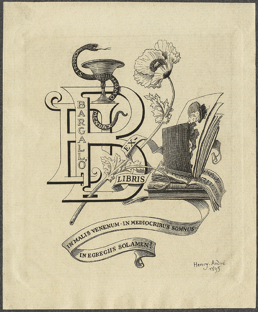 f-bargallo-ex-libris-de-andre-henry-1895