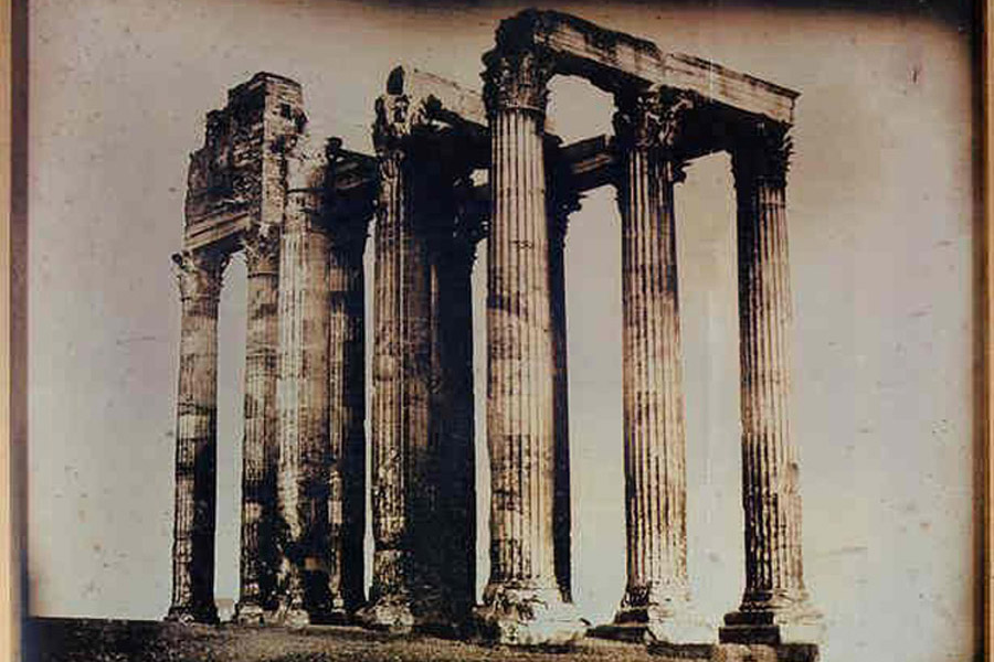 Athènes-Temple-de-Jupiter-olympien-pris-de-l'est-(1842)-Joseph-Philibert-Girault-de-Prangey