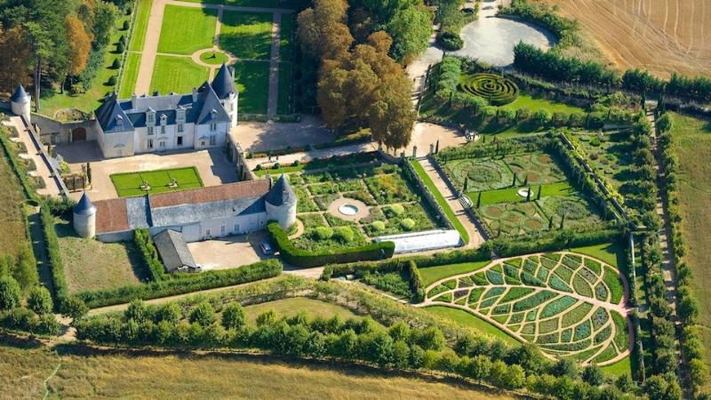 Jardines del Chateau de la Chatonnière, Francia
