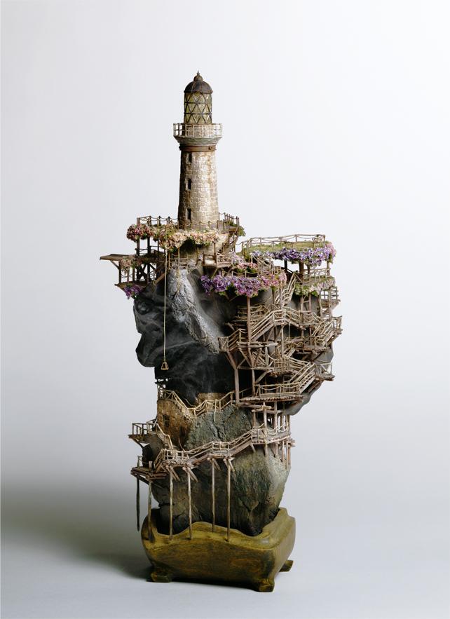 Takanori aiba arquitectura en miniatura esculturas for Bioshock jardin de las recolectoras