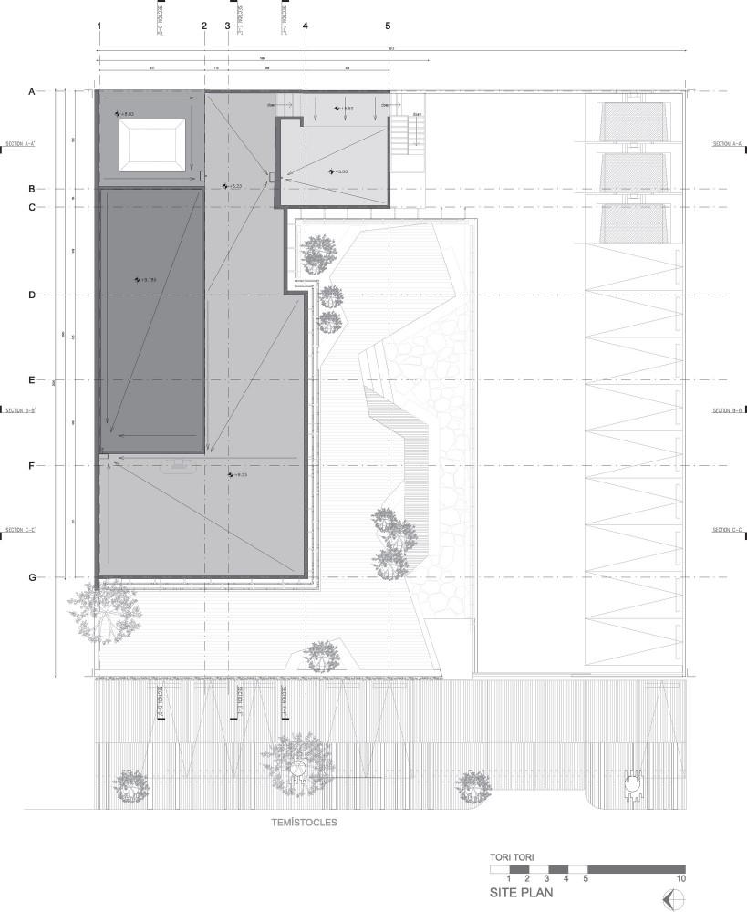 Restaurante tori tori rojkind arquitectos esrawe for Plano restaurante