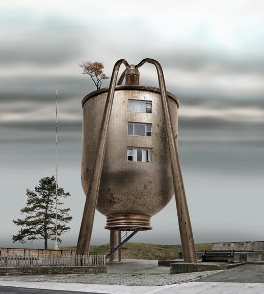 El hábitat de las máquinas: Arquitectura fantástica de David Trautimas