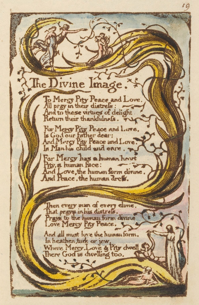 a comparison of a divine image and the human abstract by william blake The points of contact and sides of likeness between william blake and walt whitman are so many and so  comparison in his  blake's human form divine.