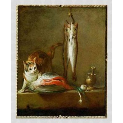gato_con_trozo_de_salmon_Chardin