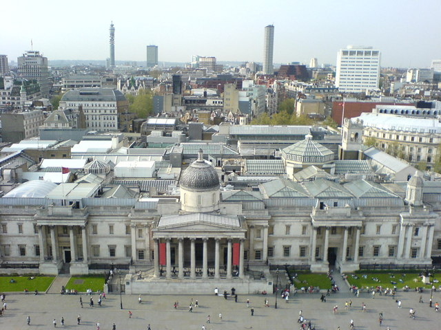 National_Gallery_from_atop_Nelson's_Column,_Trafalgar_Square,_London