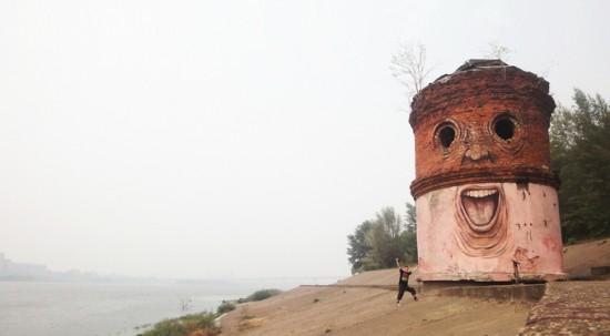 Nikita Nomerz / Las caras de los edificios