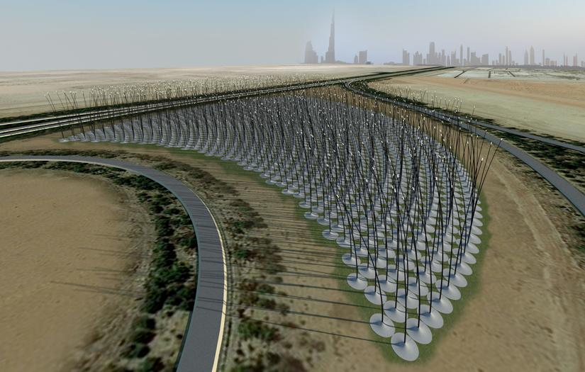 Prototipo para captar energía cinética del viento: Windstalks / Atelier DNA