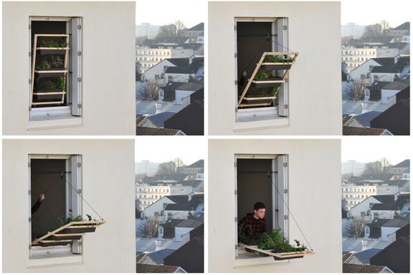 Volet végétal: un jardín urbano en la ventana