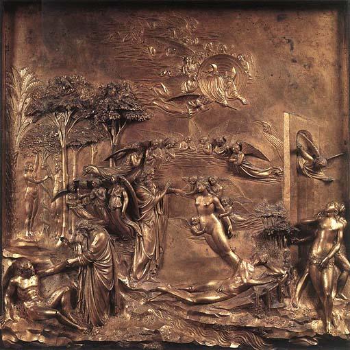 Lorenzo-Ghiberti-Historias-del-Genesis.Puertas-del-Paraiso