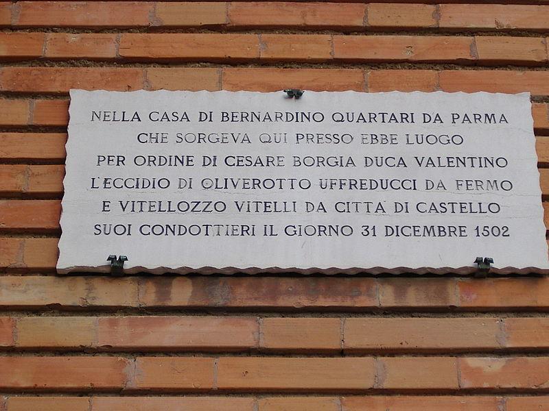 Plaque_Senigallia_Vitellozzo_Vitelli_et_Oliverotto_da_Fermo