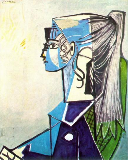 Portrait_de_Sylvette_David_24_au_fauteuil_vert_1954