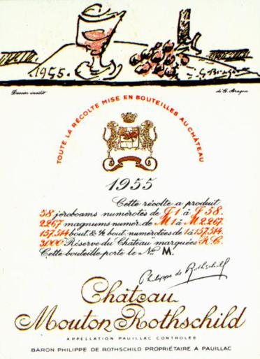 Chateau-Mouton-Rothschild-etiquetas-Braque-1955