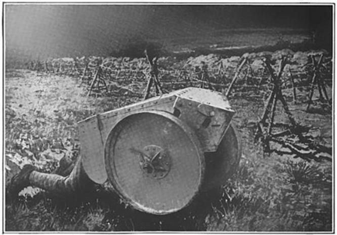 Arma para la guerra de trincheras: Cortador de alambre acorazado