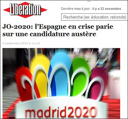 Principales errores de la candidatura de Madrid 2020 / Un análisis comunicativo