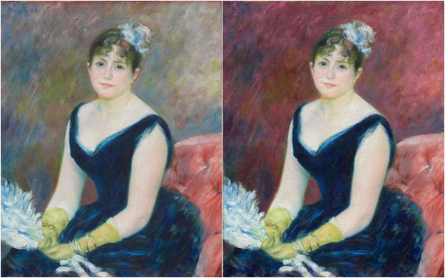 Restauran digitalmente el color perdido de un cuadro de Renoir