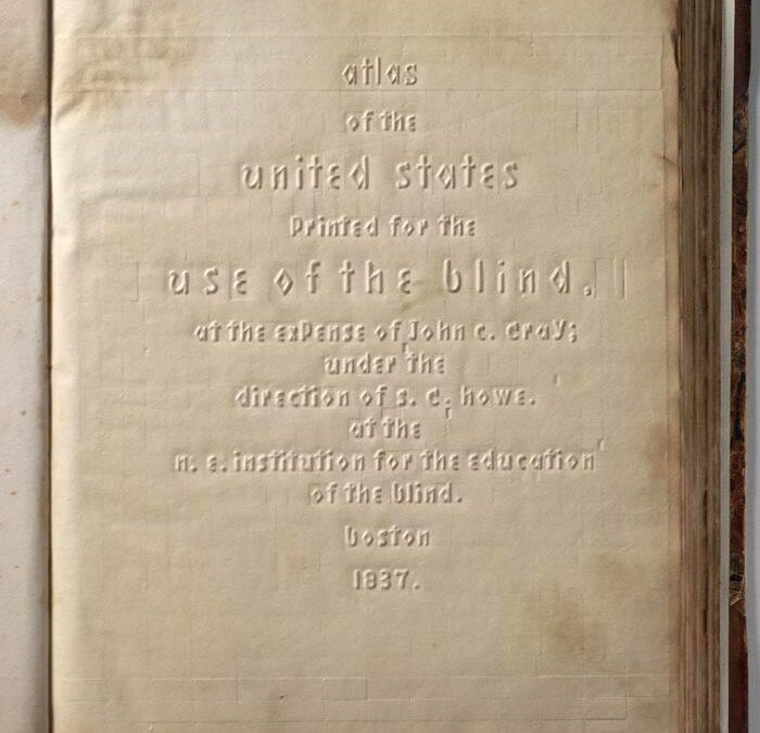 Atlas de Estados Unidos para ciegos, 1837